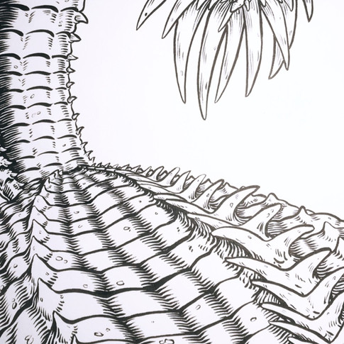 Brush and Ink detail from a larger commission.