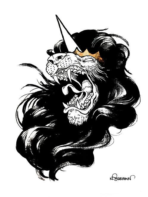 'Panthera' Lion Print