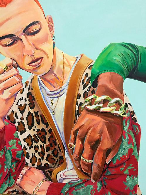 A Quiet Conversation, Painting