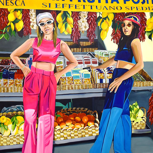 Fruit Salad, Painting