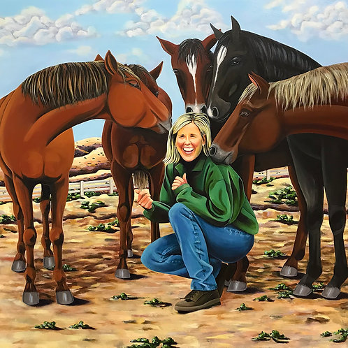 The Tales of a Horse Whisperer, Painting