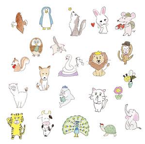 kodomoeさんに描いた動物たち