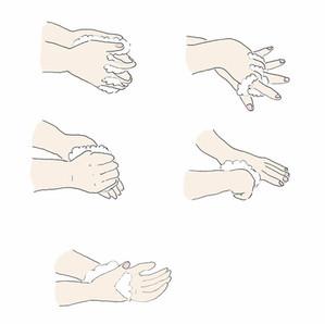 手洗いちゃんとね!