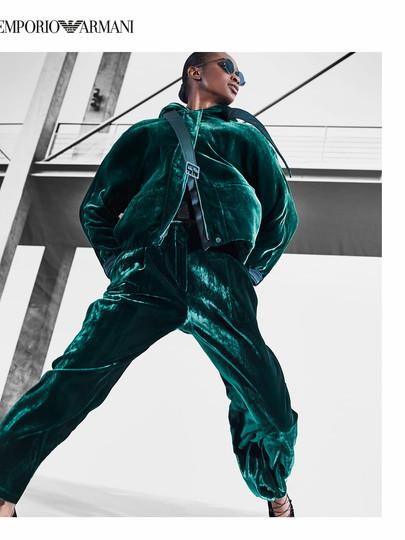 Maomi for Emporio Armani FW20/21 Campaign