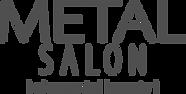 Metal Salon logo w Tagline 4f4f4f trans