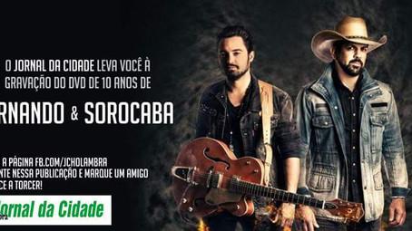 Você na gravação do DVD de Fernando & Sorocaba, em Holambra!