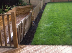 Decking with Pointed Picket Fence