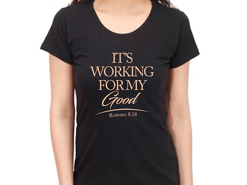 Working For My Good Tees - Black