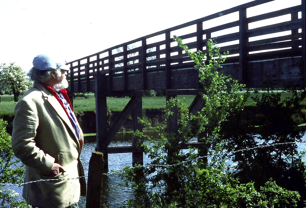 Sven Berlin on the banks of the Stour at Cowgrove, Wimborne