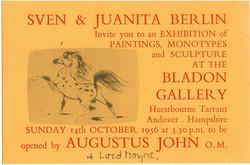 Bladon Gallery invitation 1956