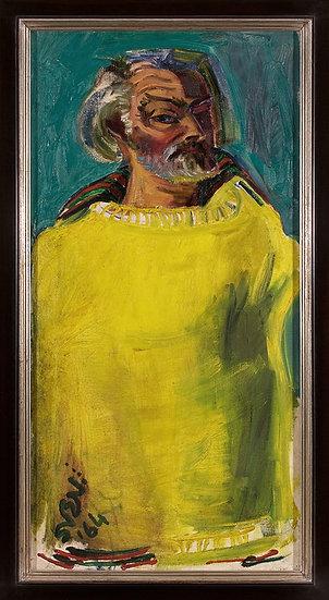 Sven Berlin   Self Portrait in Yellow Pullover