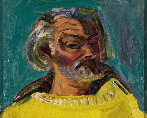 Sven Berlin   Self portrait in Yellow Pullover  (detail)