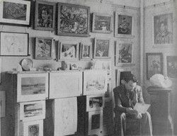 Sven at his first exhibition Camborne 1939