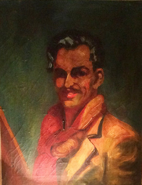 Sven Berlin's first self-portrait discovered