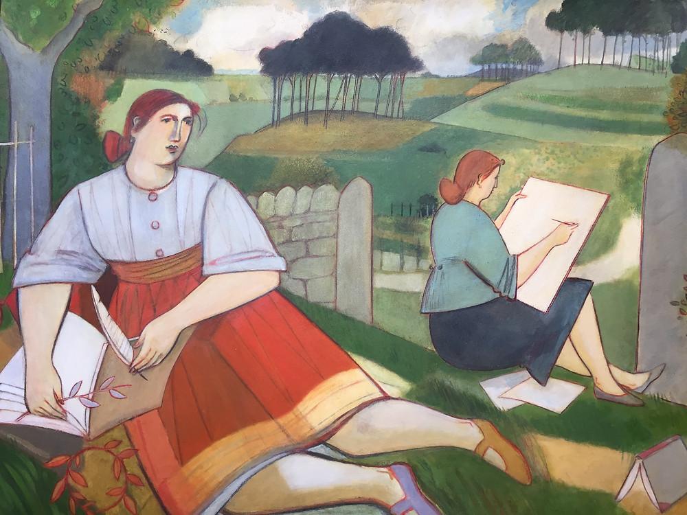 Figures in a Landscape by Gordon Close