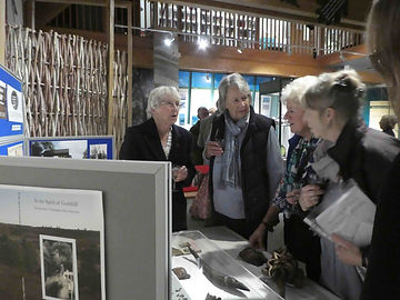Guests discover Tom Charman's wood carvings and ephemera.