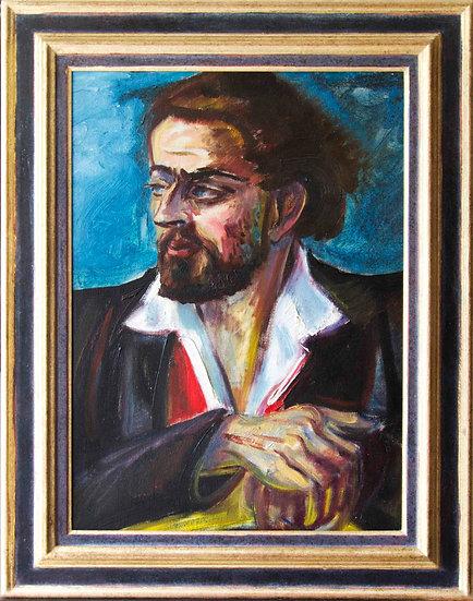 Paul, son of Sven Berlin. Oil painting framed 1961