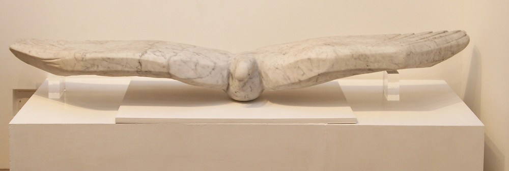 Marble carving of the Albatross by Sven Berlin at St. Barbe Museum & Art Gallery