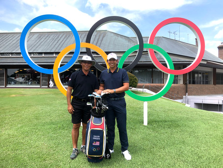 GAVIN HOPES TO UPSET FORM BOOK IN OLYMPICS MEN'S GOLF COMPETITION
