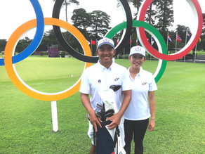 CHINESE TAIPEI'S PAN CHASES OLYMPIC GOLF MEDAL WITH WIFE ON CADDYING DUTY