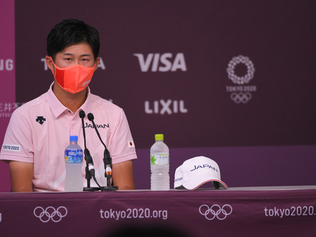 JAPAN'S HOSHINO EXCITED TO STRIKE FIRST GOLF SHOT AT OLYMPIC GAMES TOKYO 2020