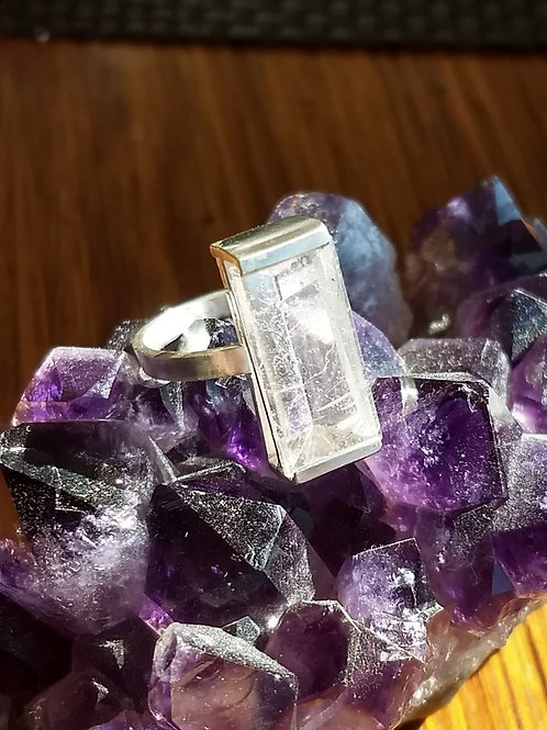 Quartz Ring in Side Setting