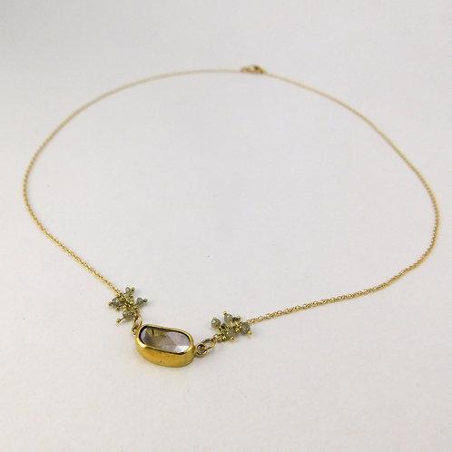 Diamond Slice with Diamond Beads