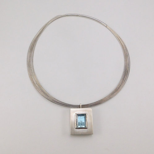 Aquamarine in Square Sterling