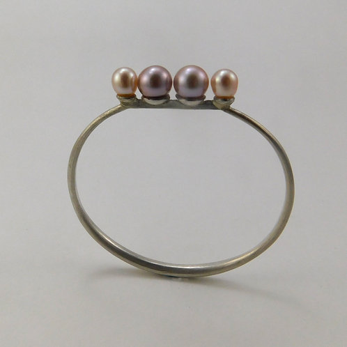 Sterling Bracelet with Pearls