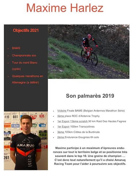 amaruq racing team Maxime Harlez