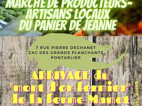 Rendez-vous le 26 septembre 2020 à Pontarlier au marché du Panier de Jeanne !