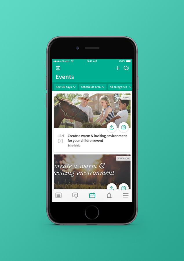 Nabo Events Redesign