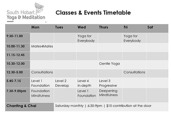 Timetable 18.8.20