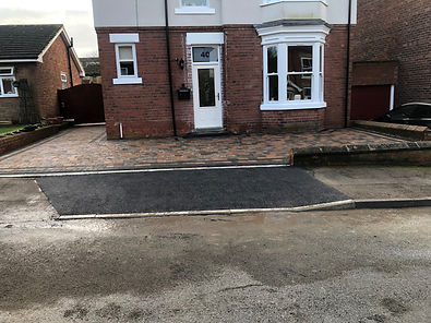 Construction of drop kerb and ground works in Retford