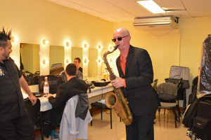 Warming up in the Dressing Room