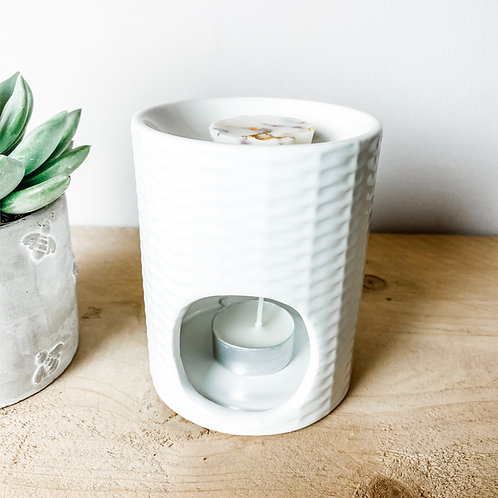 Eucalyptus Weave Ceramic Wax Melter / Oil Burner