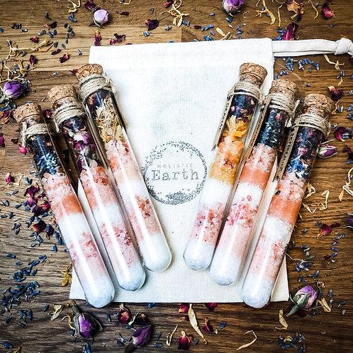 6 Essential Oil Bath Salts Shots