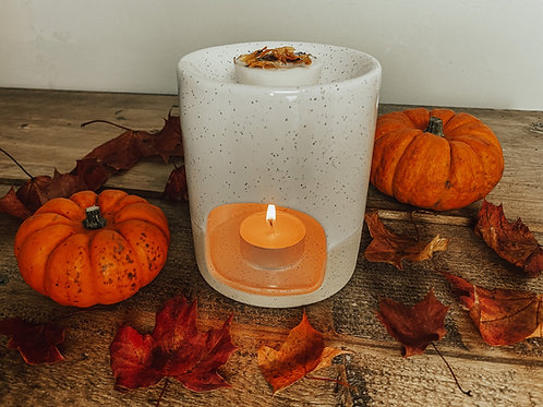 Speckle Glazed Ceramic Wax Melter / Oil Burner