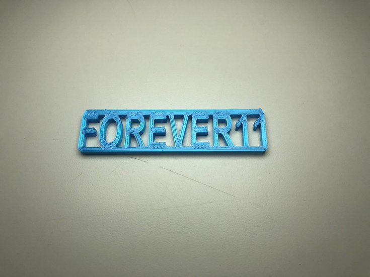 Forever 11 Keychain