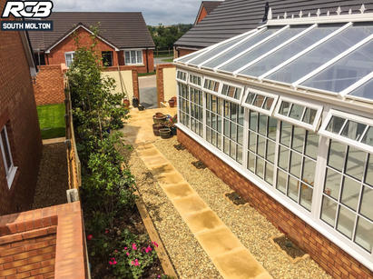 South Molton Conservatory base and Garden work