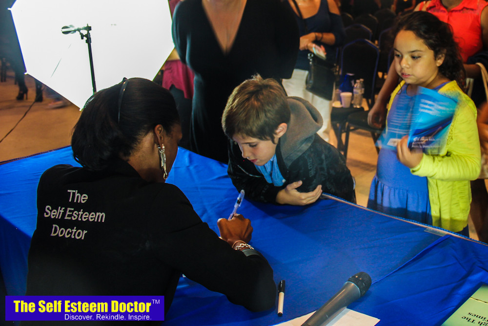 Guests have the opportunity to get their book signed by The Self Esteem Doctor!
