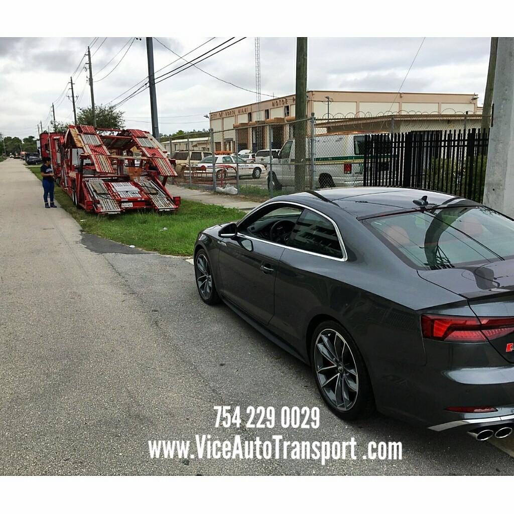 Loading the Audi S5 - Miami, FL to Iowa.