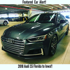 Audi S5 Shipped From Florida to Iowa