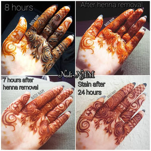 ef79e7a40 The oiliness will help to glide the henna off and will hurt less if the  area has hair. Apply the oil/balm any time before you come into contact  with water.