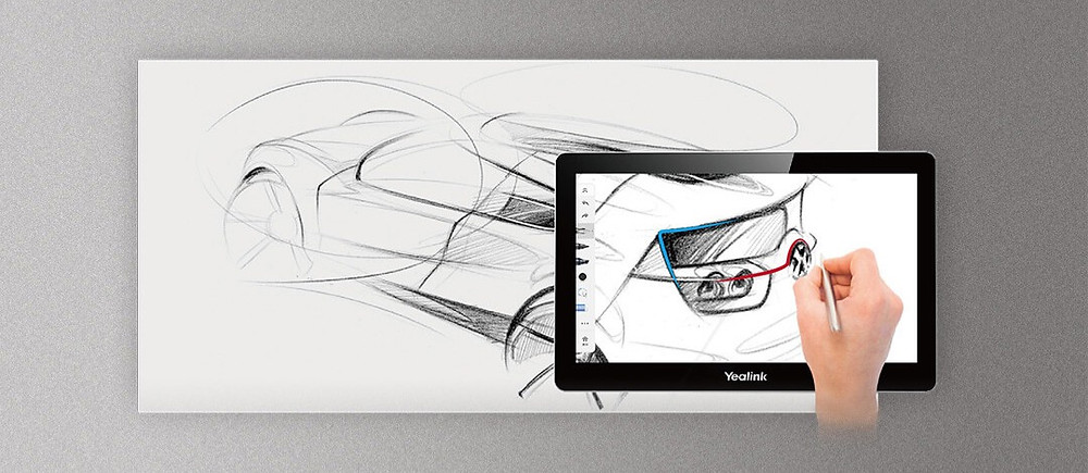 Yealink Collaboration Touch Panel CTP20: Natural writing free of distraction so you can focus on your ideas.