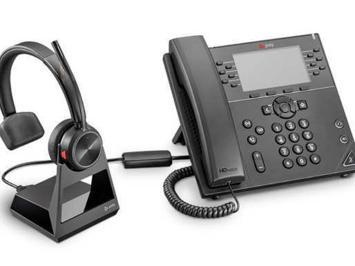 Poly Savi 7200 Office Series Wireless DECT Headset System for Desk Phones