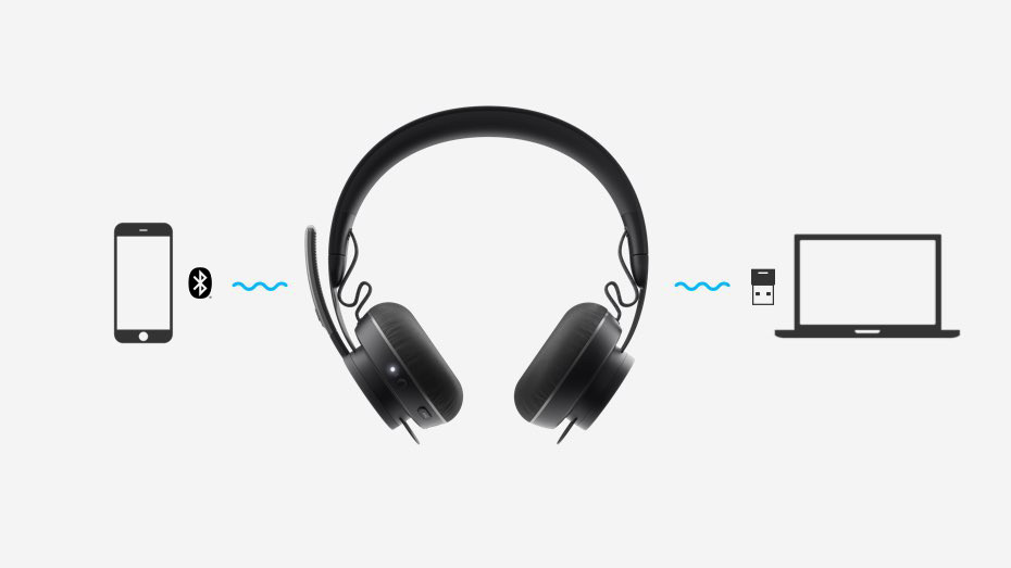Kathea - Logitech Zone Wireless Headsets - Connect Multiple Devices