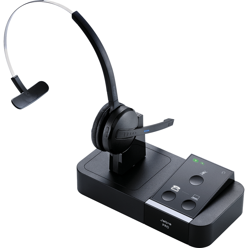 The Jabra PRO™ 9400 Series offers a secure DECT connection