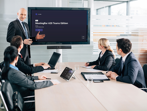 Yealink MeetingBar A20: New All-In-One Collaboration Bar for Microsoft Teams