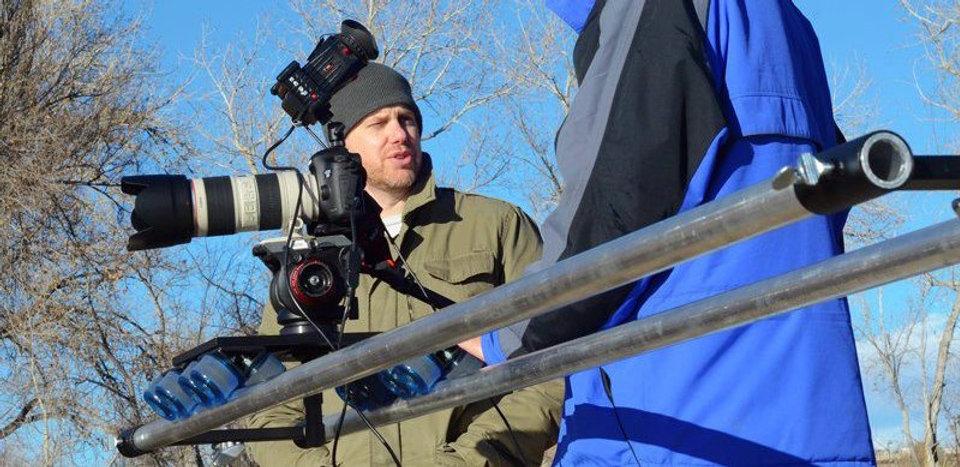 David D. Mulholland directing behind the camera